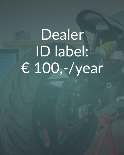 Electric Motorcycles News - dealer ID label