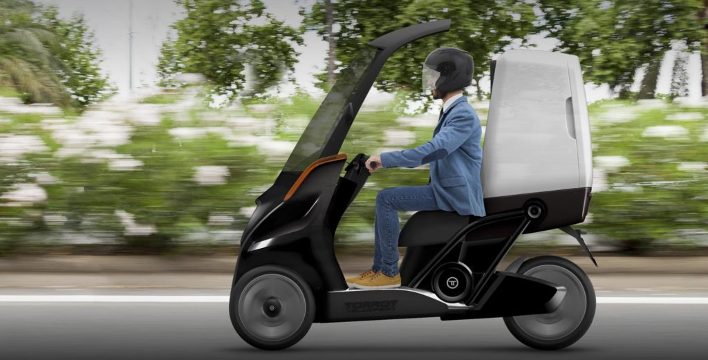 The Torrot Velocípedo is a new concept of three wheeled electric and interconnected vehicle on Electric Motorcycles News