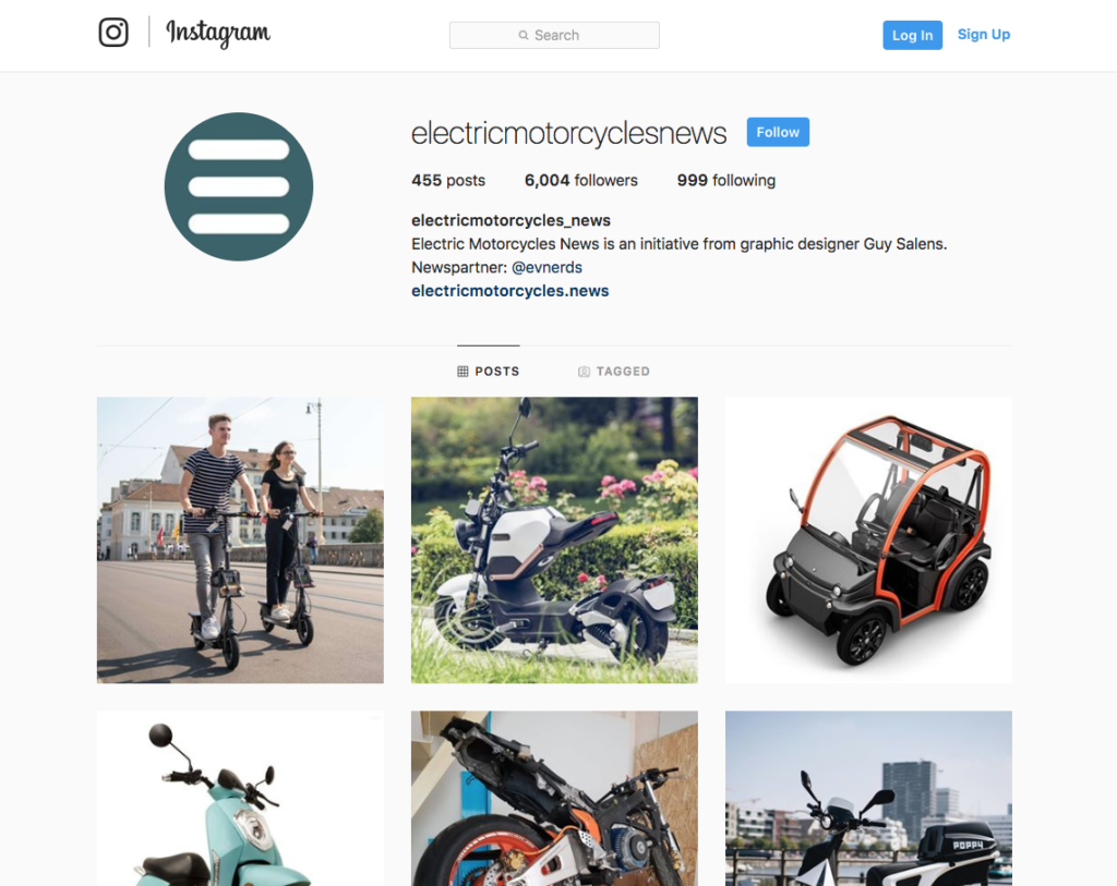 Electric Motorcycles - Instagram