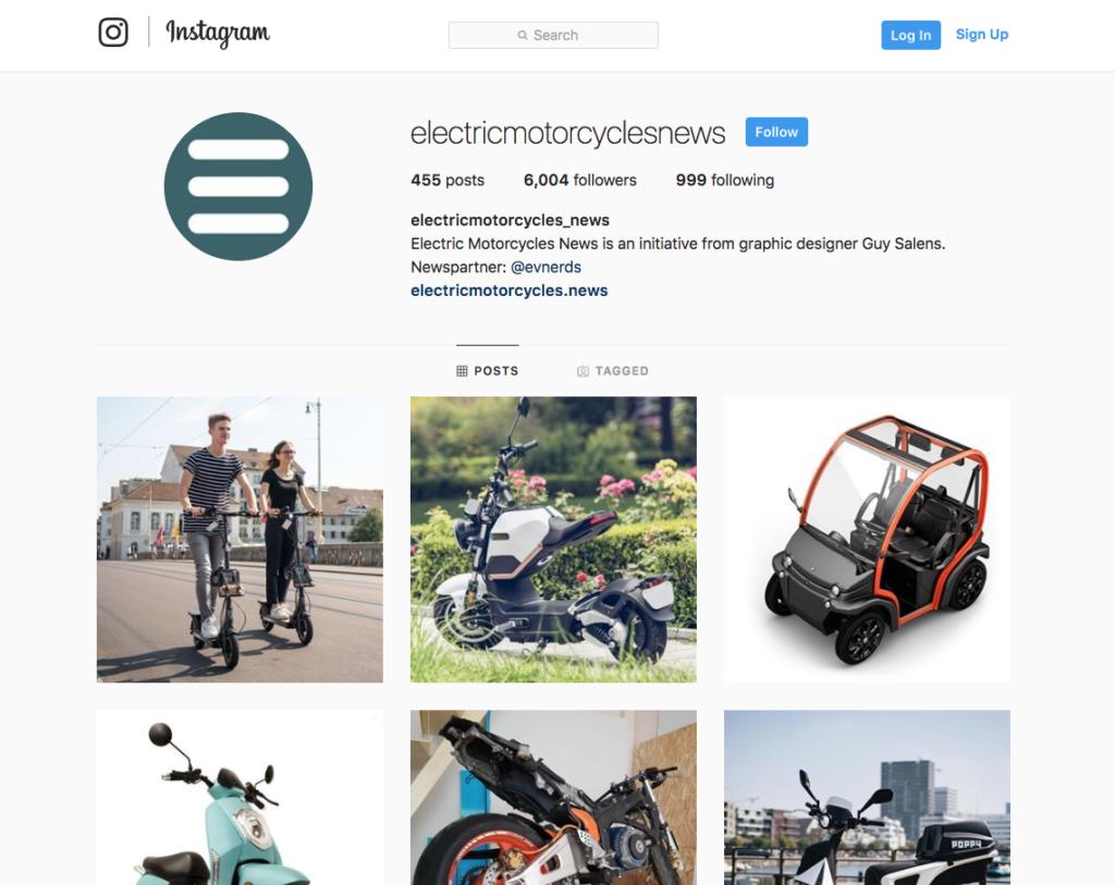 Electric Motorcycles - Instagram