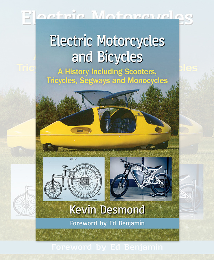 Electric Motorcycles News - Book Electric Motorcycles and Bicycles - Kevin Desmond