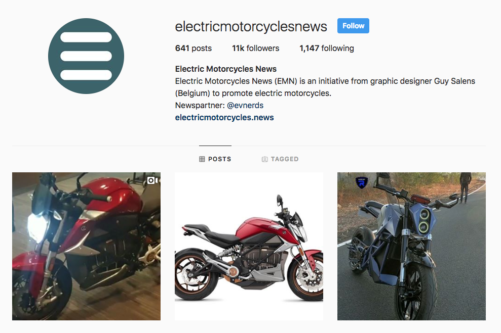 Electric Motorcycles News social media services