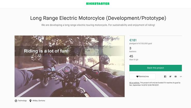 Hummingbird E-cruiser project Johann Konrad Nomad Motors |Electric Motorcycles News
