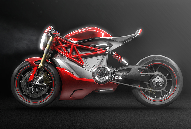 Allessandro Lupo | Ducati Monster Electric Concept