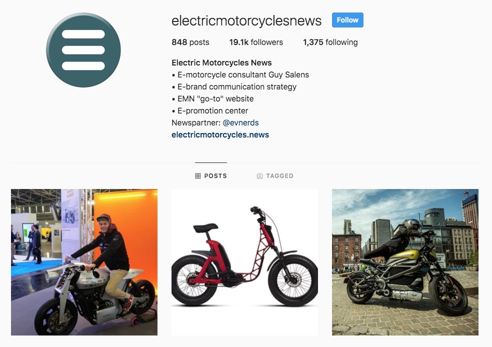 Instagram | Electric Motorcycles News