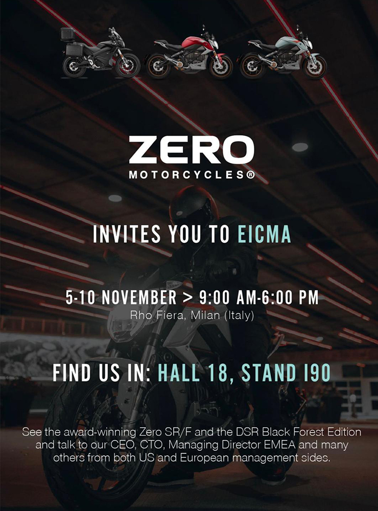 EICMA 2019 | Zero Motorcycles | Electric Motorcycles News