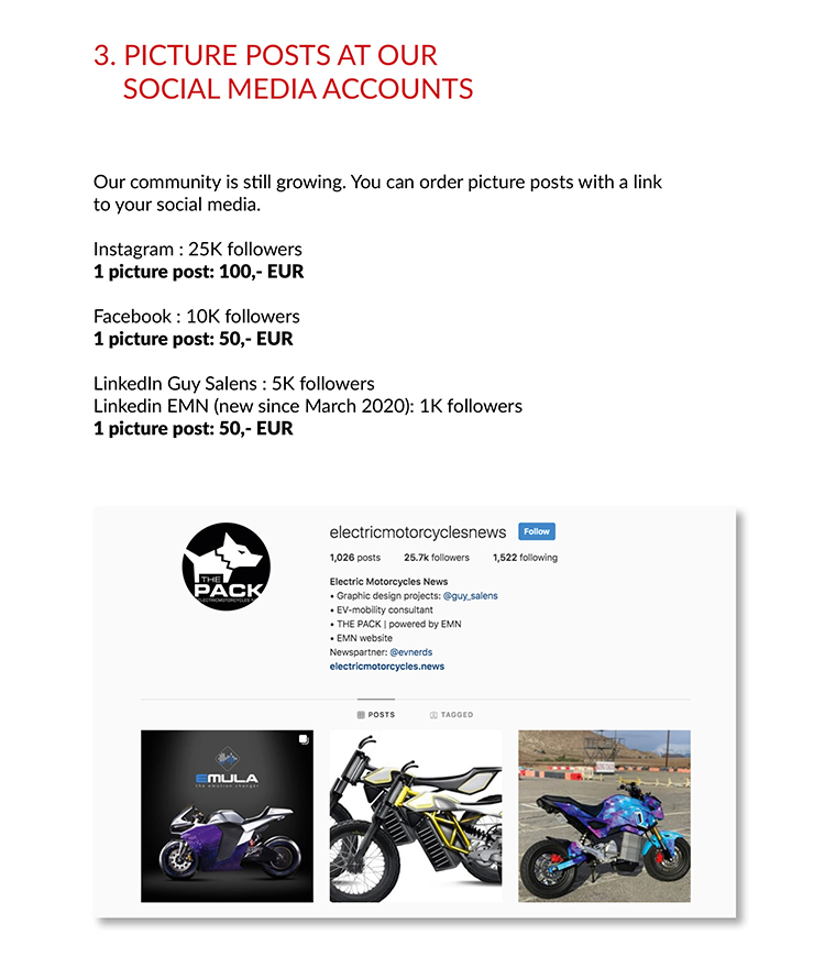Advertising on EMN | THE PACK | Electric Motorcycles News