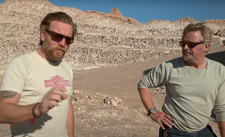 Long Way Up - Ewan McGregor and Charley Boorman - Harley Davidson LiveWire - Rivian - THE PACK - Electric motorcycle news