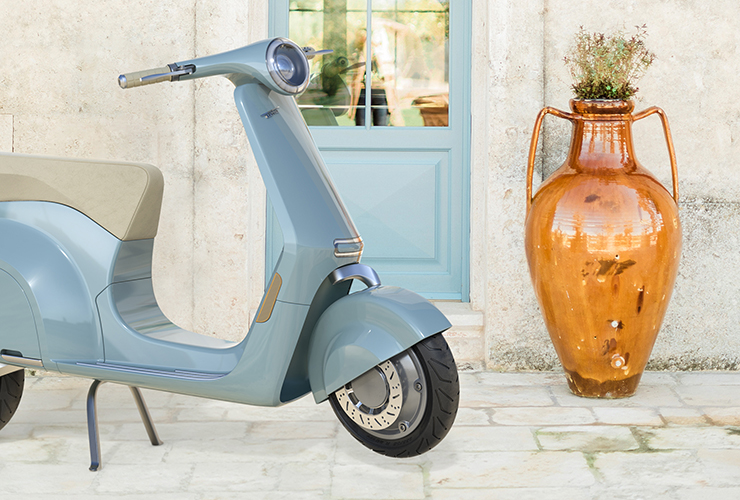 Vespa Elettra - MA-DE STUDIO - THE PACK - Electric Motorcycles News