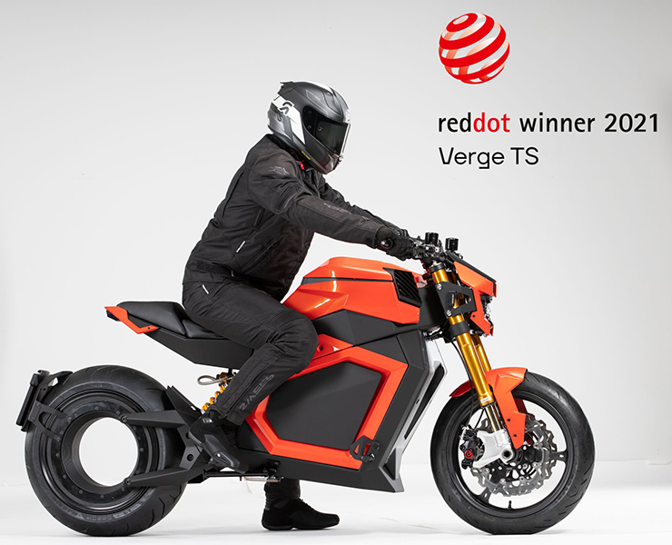 Verge Motorcycles Red dot award - THE PACK - Electric Motorcycles News